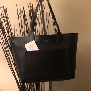 Kate Spade Solid andStriped Reversible Open Tote